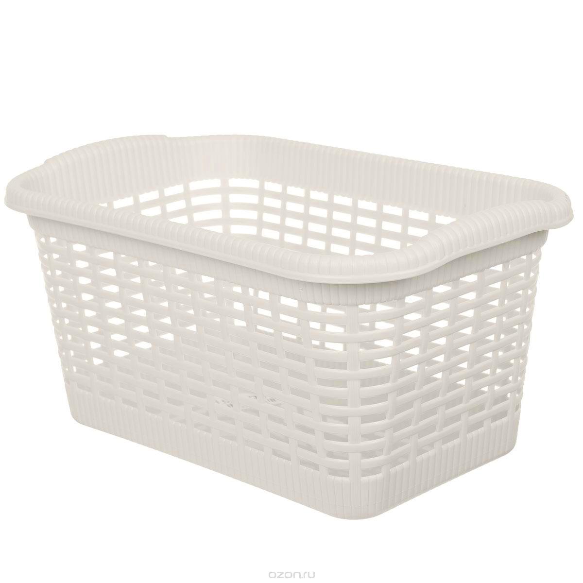 Корзина хозяйственная Gensini, цвет: светло-бежевый, 36 x 22,5 x 18 смZ-0307Универсальная корзина Gensini, выполненная из пластика, предназначена для хранения мелочей в ванной, на кухне, даче или гараже. Позволяет хранить мелкие вещи, исключая возможность их потери. Легкая воздушная корзина выполнена под плетенку и оснащена жесткой кромкой.Размер: 36 см x 22,5 см x 18 см. Объем: 15 л.