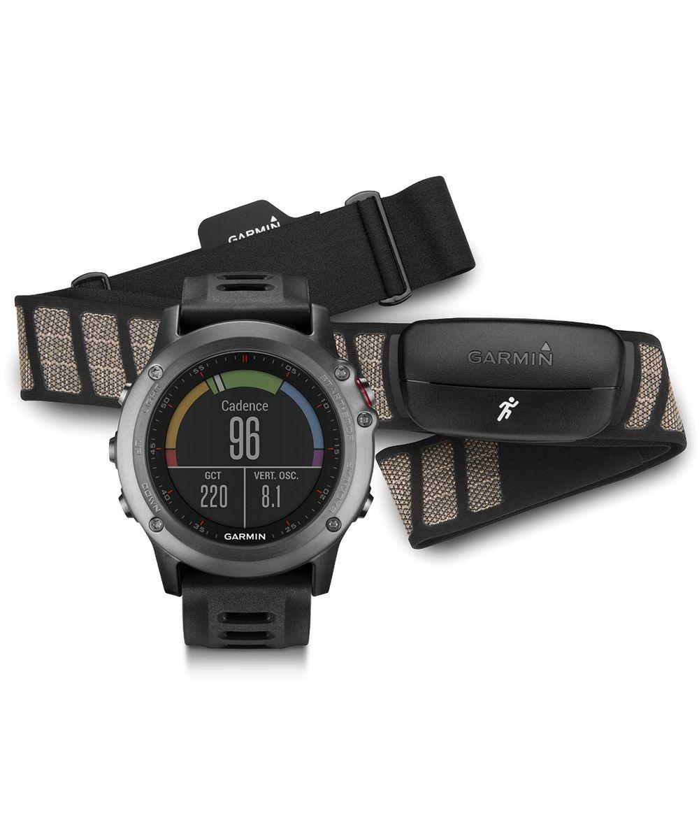 Смарт-часы Garmin fenix 3 Grey, серый с черным ремешком, HRM - Run (010-01338-11)ALC-MB10-3BALRU1-1Непревзойденные спортивные часы «мультиспорт» с GPSСтальная антенна EXO™ с поддержкой спутников GPS + GLONASS для быстрого приема сигналов и точного расчета местоположения1,2-дюймовый цветной дисплей Chroma™ с отличным качеством изображения даже при солнечном светеФункции для тренировок, включая VO2 Max и рекомендации по восстановлению (при использовании с пульсометром?)Навигационные функции, включая 3-осевой компас, альтиметр и барометр, TracBack и Sight'n GoСовместимость с Connect IQ™ для загрузки приложений, виджетов, циферблатов и полей данныхFenix 3 представляет собой прочные, функциональные и «умные» спортивные часы «мультиспорт» с GPS-приемником. Поскольку устройство включает в себя наборы функций для тренировок и для навигации, оно готово к любым спортивным занятиям или соревнованиям. Доступ к платформе Connect IQ позволяет настраивать циферблаты, поля данных, виджеты и действия. Благодаря компактному и легкому корпусу Fenix 3 не замедлит Вас во время тренировки и не станет помехой в повседневной жизни.Великолепный стиль, которому не страшны даже самые неблагоприятные условияЧасы Fenix 3 предлагаются в трех базовых вариантах: серый с высокопрочным стеклом, устойчивым к царапинам, и черным ремешком; серебристый с красным ремешком; модель «сапфир премиум» со стальным браслетом и сапфировым стеклом. Каждая модель оснащена защитным стальным кольцом и кнопками, а также усиленным корпусом для дополнительной надежности. Цветной ЖК-дисплей Chroma с высоким уровнем разрешения и защитой от бликов обеспечит Вам доступ к данным при любой освещенности. Прибор Fenix 3 характеризуется водостойкостью на глубине до 100 метров. Заряда батареи хватает до 50 часов в режиме UltraTrac, 16 часов в режиме GPS и до 3 месяцев в режиме часов (длительность работы зависит от настроек).Расширенные спортивные данныеМодель Fenix 3 включает в себя все необходимые для тренировок функции, которы