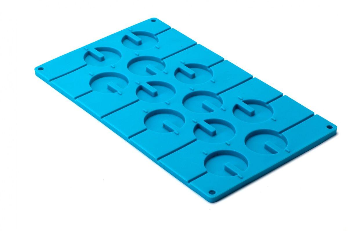Форма силиконовая 3D Bradex Круг, цвет: голубой, 12 ячеекTK 0158Форма 3D Bradex Круг изготовлена из высококачественного силикона и предназначена для одновременного приготовления 12 конфет на палочке или 6 объемных шаров. В комплект входит 20 многоразовых палочек из полипропилена. Все взрослые, а тем более дети любят конфеты. Особенно увлекательно есть конфеты на палочке, не важно, карамелька ли это или шоколадка. Теперь вы сможете дома легко и просто приготовить любые конфеты на палочках и добавить в них все возможные наполнители, которые только придут вам в голову. С помощью этой удивительной формы вы также сможете изготовить объемные вкусные шары, которые могут стать как самостоятельным оригинальным десертом, так и украшением для праздничного торта. Форма силиконовая 3D Круг - это конфеты для всей семьи. Вы сможете одновременно сделать карамельки с ягодами для малышей, молочный шоколад с цветными драже для любителей вкусностей послаще и даже горький шоколад с перцем для ценителей пикантных сочетаний. Подходит для замораживания...