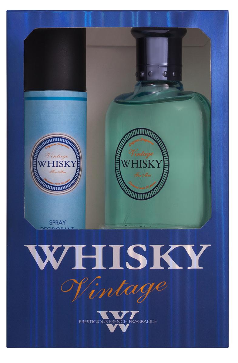 Evaflor Подарочный набор Whisky Vintage мужской: Туалетная вода, 100 мл , дезодорант, 75 мл39574Подарочный набор для мужчин : туалетная вода 100мл, парфюмированный дезодорант 75 мл.