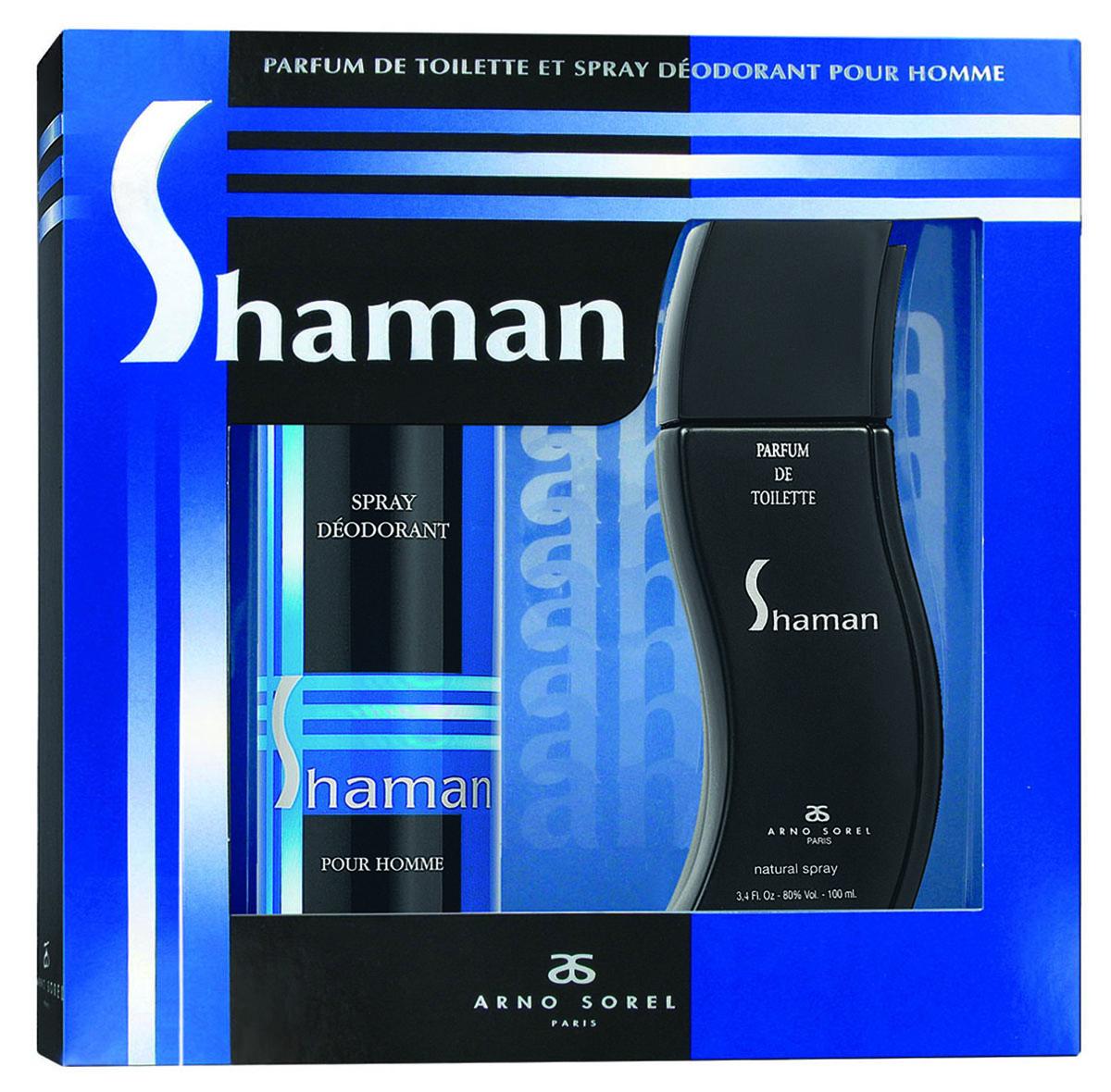 Corania Подарочный набор Shaman мужской: Туалетная вода, 100 мл , гель для душа, 100 мл15032029Подарочный набор для мужчин : туалетная вода 100мл, парфюмированный гель-душ 100мл.