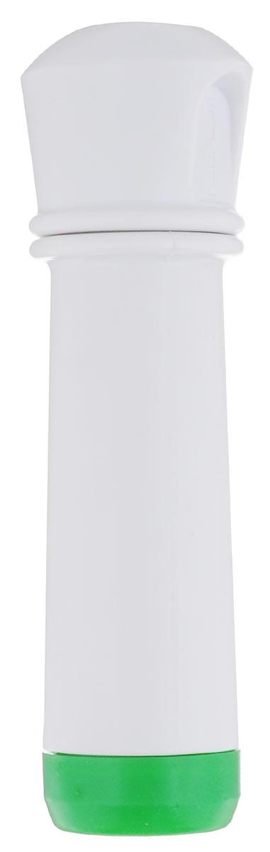 Насос вакуумный для контейнеров Microban, цвет: белый, зеленыйVS2R-0_белый, зеленыйВакуумный насос Microban, изготовленный из высококачественного пластика с прорезиненными вставками, станет не заменимым помощником на вашей кухне. С помощью такого насоса одним простым движением можно быстро выкачать воздух из контейнера. Это обеспечит герметичность и дольше сохранит продукты свежими.
