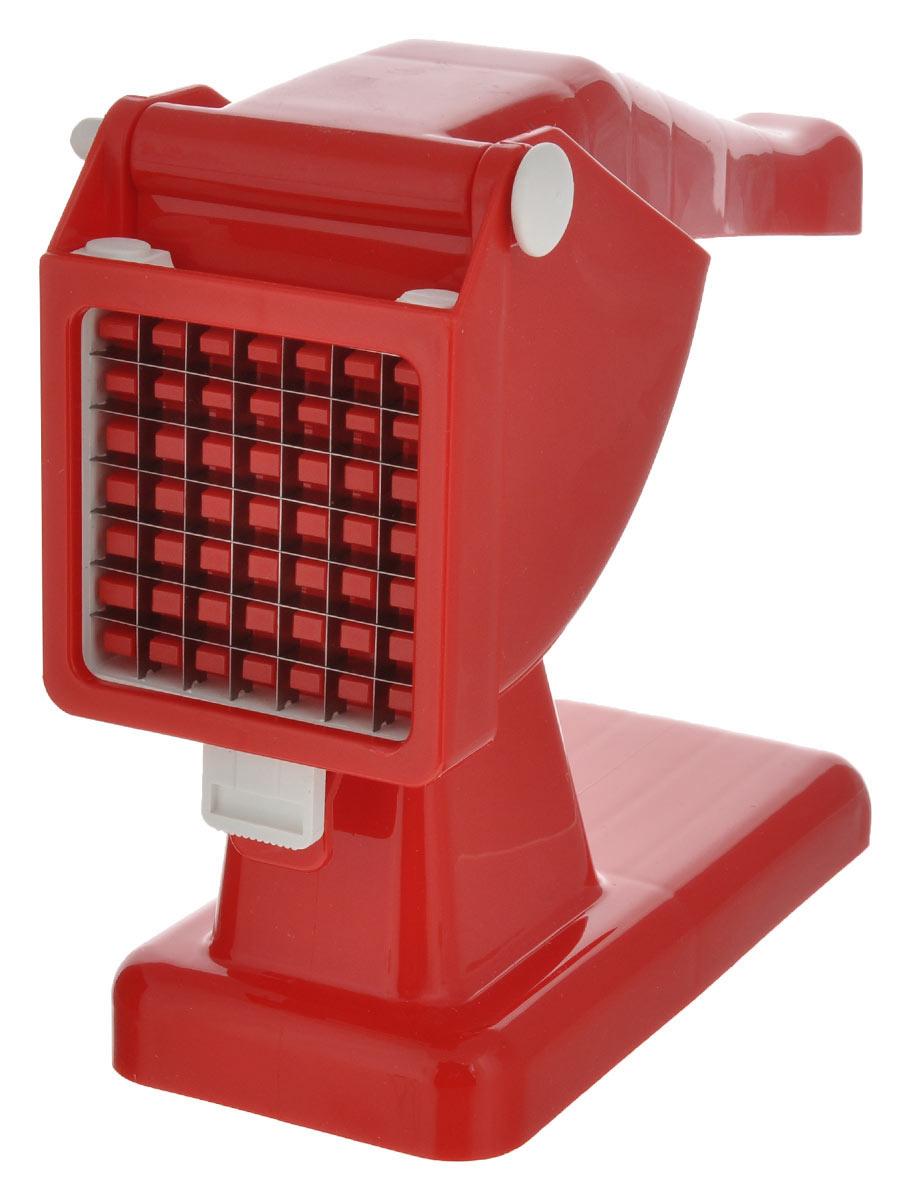 Картофелерезка Rigamonti Mister Chips, цвет: красный4311_красныйКартофелерезка Rigamonti Mister Chips изготовленная из пластика и стали, используется для нарезания картофеля или других овощей, фруктов брусками или кубиками. Просто положите очищенную картофелину в специальный отсек, надавите ручку и вы получите быстро и качественно нарезанный продукт. Общий размер картофелерезки: 28 см х 8,5 см х 20,5 см. Размер ячейки решетки: 1 см х 1 см. Материал: пластик, сталь.