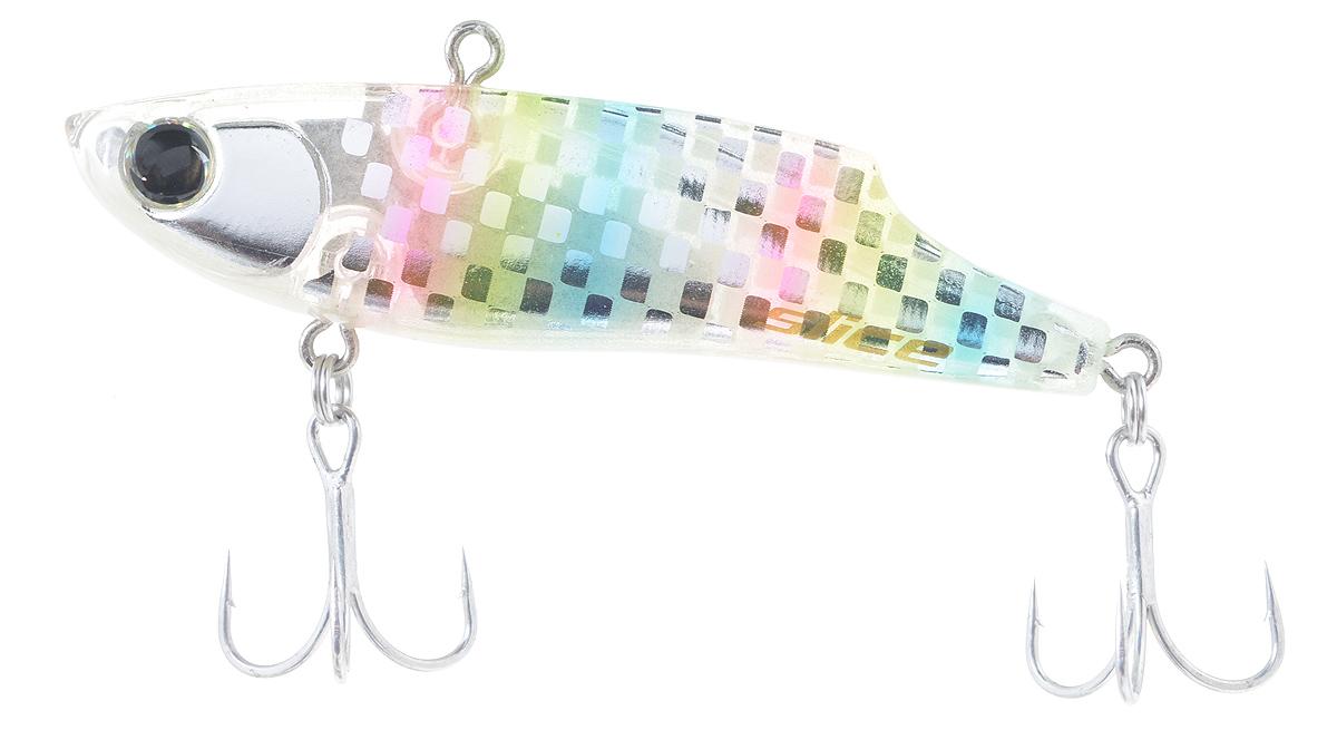 Воблер Maria Slice, тонущий, цвет: прозрачный, розовый, желтый, 7 см, 15 г44601Раттлин Maria Slice подойдет для ловли щуки, окуня, судака и форели. Отличная приманка для джиговой ловли летом и для зимней рыбалки. Частые колебания приманки прекрасно привлекают хищника с большого расстояния. Воблер выполнен из металла и пластика и оснащен тройниками Owner.