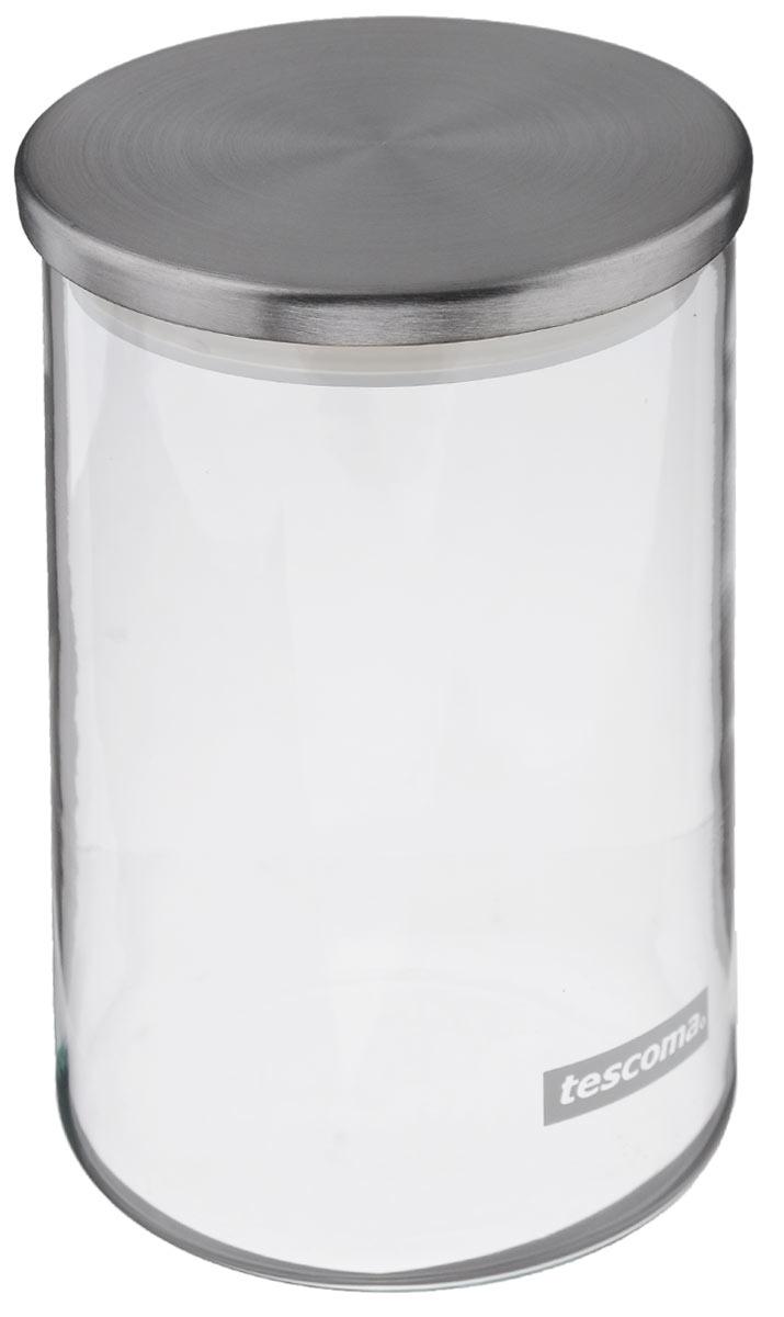 Емкость для специй Tescoma Monti, цвет: прозрачный, металлик, 0,8 лVT-1520(SR)Емкость для специй Tescoma Monti, изготовленная из прочного боросиликатного стекла, позволит вам хранить разнообразные специи. Емкость оснащена плотно прилегающей крышкой, изготовленной из первоклассной нержавеющей стали и прочной пластмассы и снабженная силиконовой прокладкой. Емкость для хранения специй станет незаменимым помощником на кухне.Можно мыть в посудомоечной машине, крышку - нельзя. Диаметр по верхнему краю: 9,5 см.Диаметр дна: 9 см.Высота: 16 см. Объем: 0,8 л.
