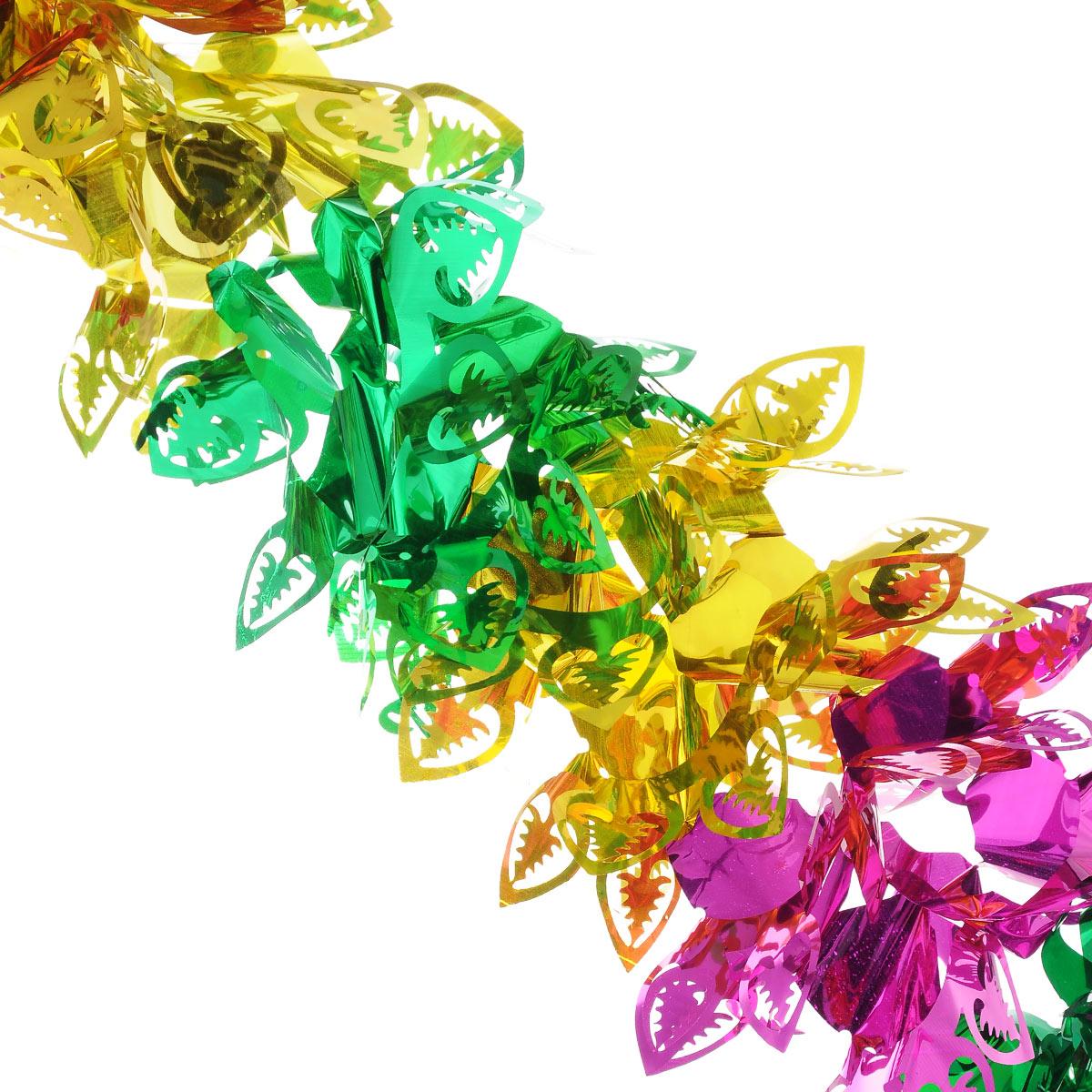 Новогодняя гирлянда EuroHouse, длина 300 смЕХ 9176Новогодняя гирлянда EuroHouse прекрасно подойдет для декора дома или офиса. Украшение выполнено из ПЭТ (полиэтилентерефталата), легко складывается и раскладывается. Новогодние украшения несут в себе волшебство и красоту праздника. Они помогут вам украсить дом к предстоящим праздникам и оживить интерьер по вашему вкусу. Создайте в доме атмосферу тепла, веселья и радости, украшая его всей семьей. Диаметр (в сложенном виде): 26 см.