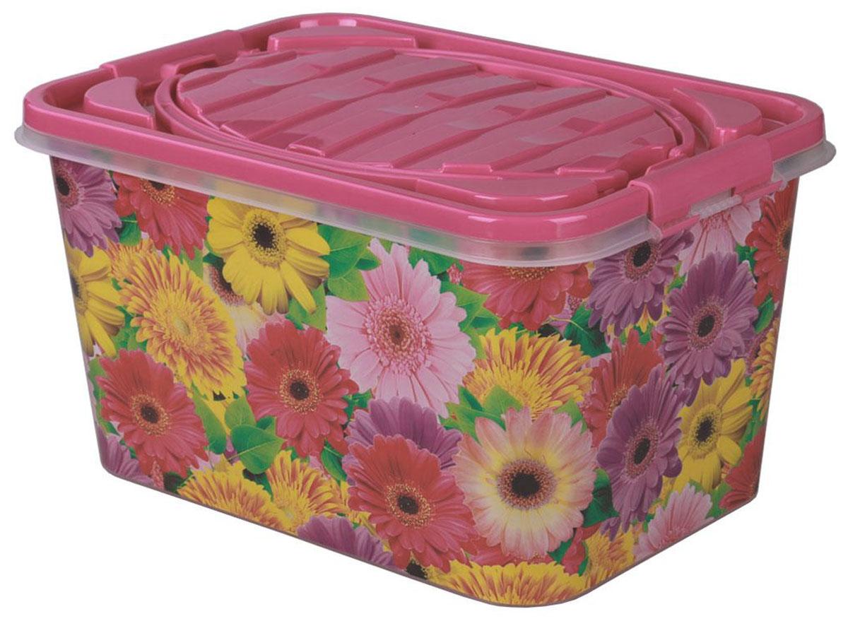 Контейнер для продуктов Альтернатива Глория, цвет: розовый, 15 лUP210DFПрямоугольный контейнер Альтернатива Глория изготовлен из прочного пластика и украшен изображением цветов. Контейнер оснащен крышкой, которая плотно закрывается на крепления, расположенные по бокам. Изделие имеет ручки для удобной переноски. Контейнер предназначен для хранения и транспортировки продуктов. Также изделие можно использовать в качестве корзины для пикника. Контейнер Альтернатива Глория станет незаменимым дома, на даче или на природе.