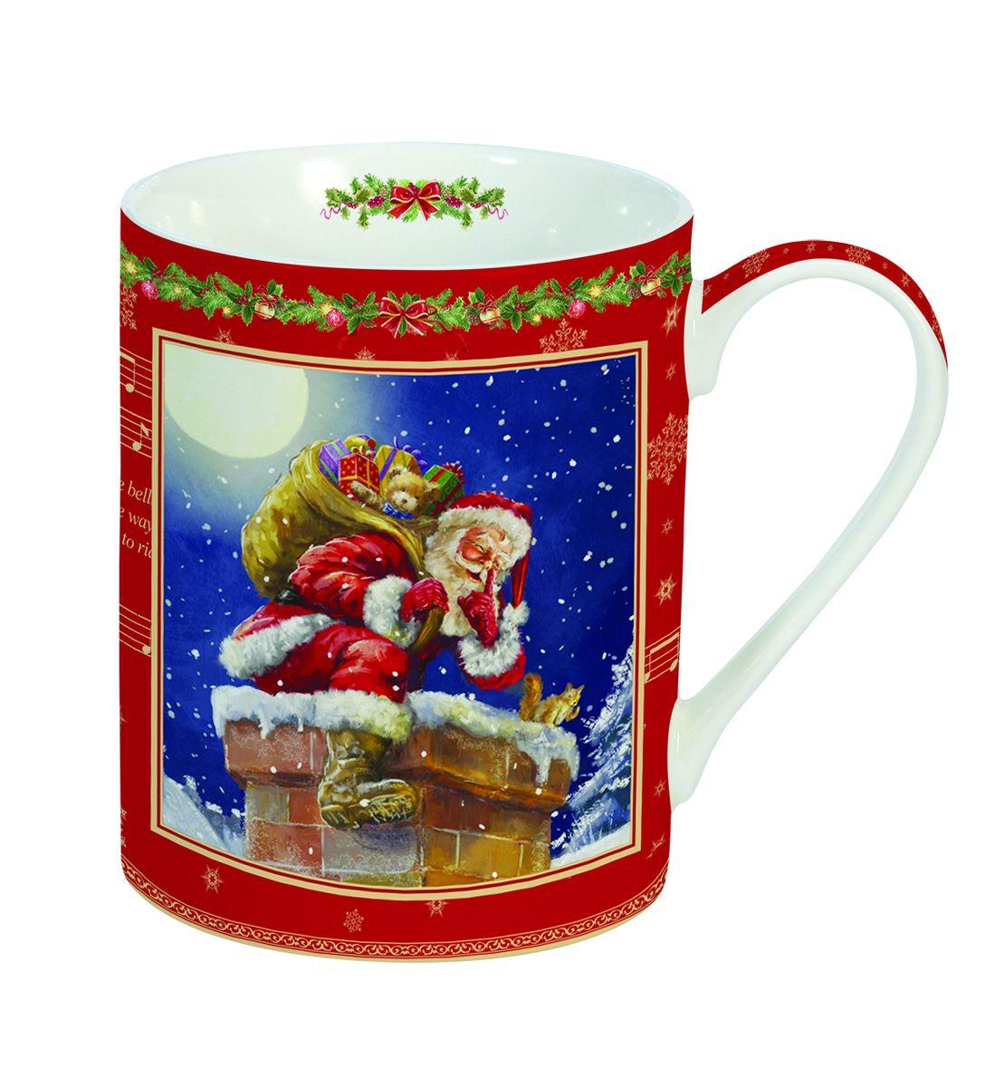 Кружка Nuova R2S Новогодние подарки, 300 мл214SILEКружка Nuova R2S Новогодние подарки изготовлена из высококачественного фарфора. Изделие оформлено ярким изображением Деда Мороза, сидящем на трубе крыши. Такая кружка - отличный вариант новогоднего подарка для ваших близких и друзей. Можно использовать в СВЧ и мыть в посудомоечной машине. Диаметр (по верхнему краю): 7,5 см.