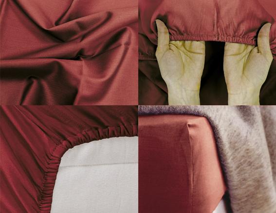 Простыня на резинке Хлопковый Край Premium, цвет: бордовый, 208 см х 186 см180с-ПНРПростыня на резинке Хлопковый Край Premium, изготовленная из сатина (100% хлопок), будет превосходно смотреться с любыми комплектами белья. Ткань приятная на ощупь, при этом она прочная, хорошо сохраняет форму и легко гладится. Простыня прошита резинкой, что обеспечивает более комфортный отдых, так как она прочно удерживается на матрасе и избавляет от необходимости часто ее поправлять. Простынь подходит для матраса размером 200 см х 180 см.