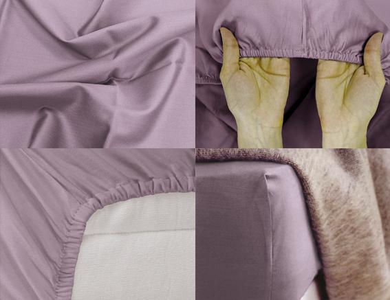 Простыня на резинке Хлопковый Край Premium, цвет: лиловый, 208 см х 186 см180с-ПНРПростыня на резинке Хлопковый Край Premium, изготовленная из сатина (100% хлопок), будет превосходно смотреться с любыми комплектами белья. Ткань приятная на ощупь, при этом она прочная, хорошо сохраняет форму и легко гладится. Простыня прошита резинкой, что обеспечивает более комфортный отдых, так как она прочно удерживается на матрасе и избавляет от необходимости часто ее поправлять. Простынь подходит для матраса размером 200 см х 180 см.