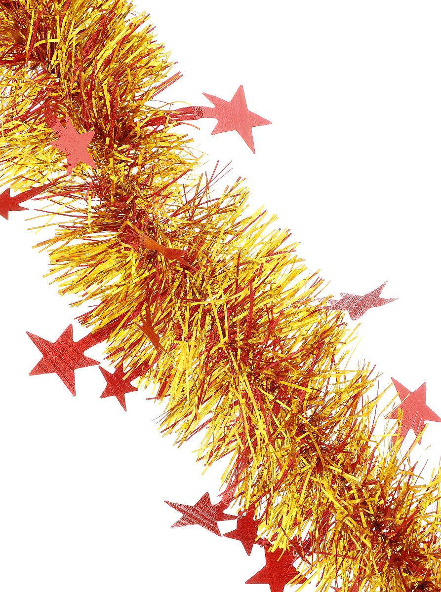 Мишура новогодняя Sima-land, цвет: красный, золотистый, диаметр 9 см, длина 200 см. 706597706597_красный, золотистыйМишура новогодняя Sima-land, выполненная из двухцветной фольги, поможет вам украсить свой дом к предстоящим праздникам. Мишура армирована, то есть имеет проволоку внутри и способна сохранять приданную ей форму. По всей длине изделие украшено фигурками из фольги в виде гофрированных звездочек. Новогодней мишурой можно украсить все, что угодно - елку, квартиру, дачу, офис - как внутри, так и снаружи. Можно сложить новогодние поздравления, буквы и цифры, мишурой можно украсить и дополнить гирлянды, можно выделить дверные колонны, оплести дверные проемы.