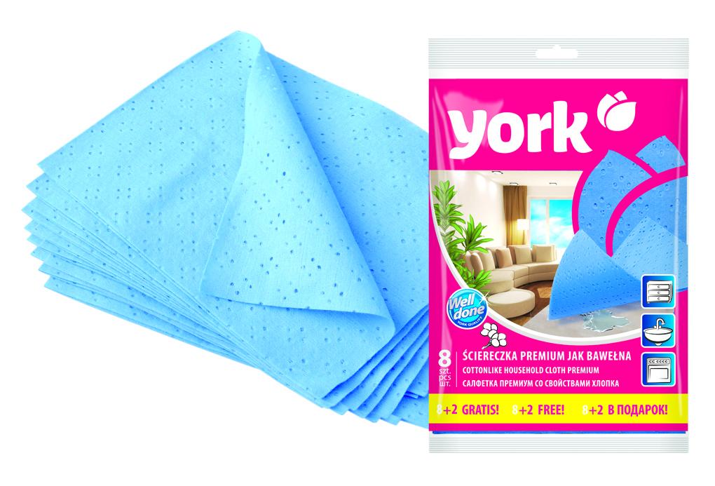 Салфетка York Премиум, впитывающая, 35 х 50 см, 10 шт2032Салфетка York Премиум предназначена для очистки любых поверхностей. Выполнена из высококачественной вискозы. Шелковистая на ощупь салфетка имеет отличные влаговпитывающие свойства.