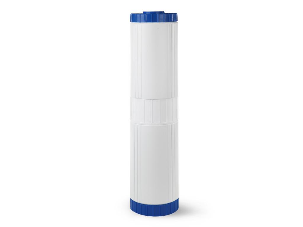 Сменный модуль для систем фильтрации холодной воды Гейзер БС 20 BB30611Картридж Гейзер БС 20ВВ. Предназначен для удаления из воды избыточных солей жесткости на ионообменной смоле пищевого класса. Гарантирует отсутствие осадков и накипи на нагревательных приборах. Способность к удалению солей жесткости ионообменной смолы восстанавливается после простой регенерации раствором поваренной соли. Подходит для корпусов стандарта 20ВВ (Big Blue) любых производителей. Общий ресурс с учетом регенерации до 20000 л. (при жесткости воды до 5 мг-экв/л).