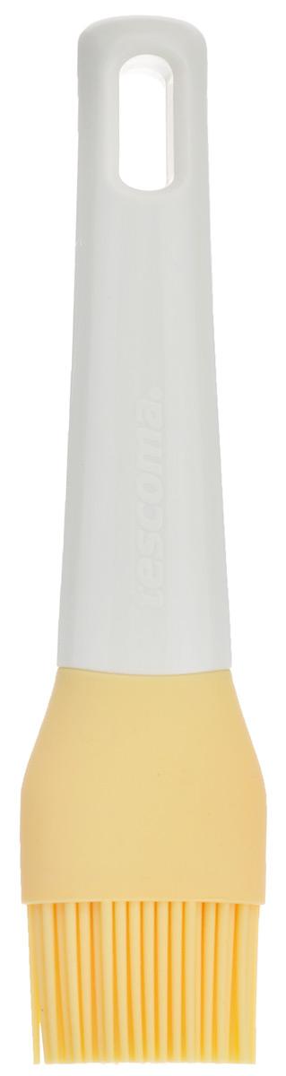 Кисточка кулинарная Tescoma Delicia, цвет: желтый, длина 17 см630024Кисточка кулинарная Tescoma Delicia изготовлена из высококачественного пищевого силикона, который способен выдержать высокие температуры. Идеально подходит для посуды с антипригарным, керамическим и тефлоновым покрытием. Высокая теплоустойчивость силикона позволяет кисточке соприкасаться с нагретыми до высоких температур поверхностями. С помощью такого аксессуара вы сможете равномерно смазать противень или сковороду маслом, нанести глазурь или масло на выпечку. Кулинарная кисточка Tescoma Delicia станет прекрасным дополнением к коллекции ваших кухонных аксессуаров. Размер рабочей поверхности: 4 см х 2,5 см. Длина кисточки: 17 см.
