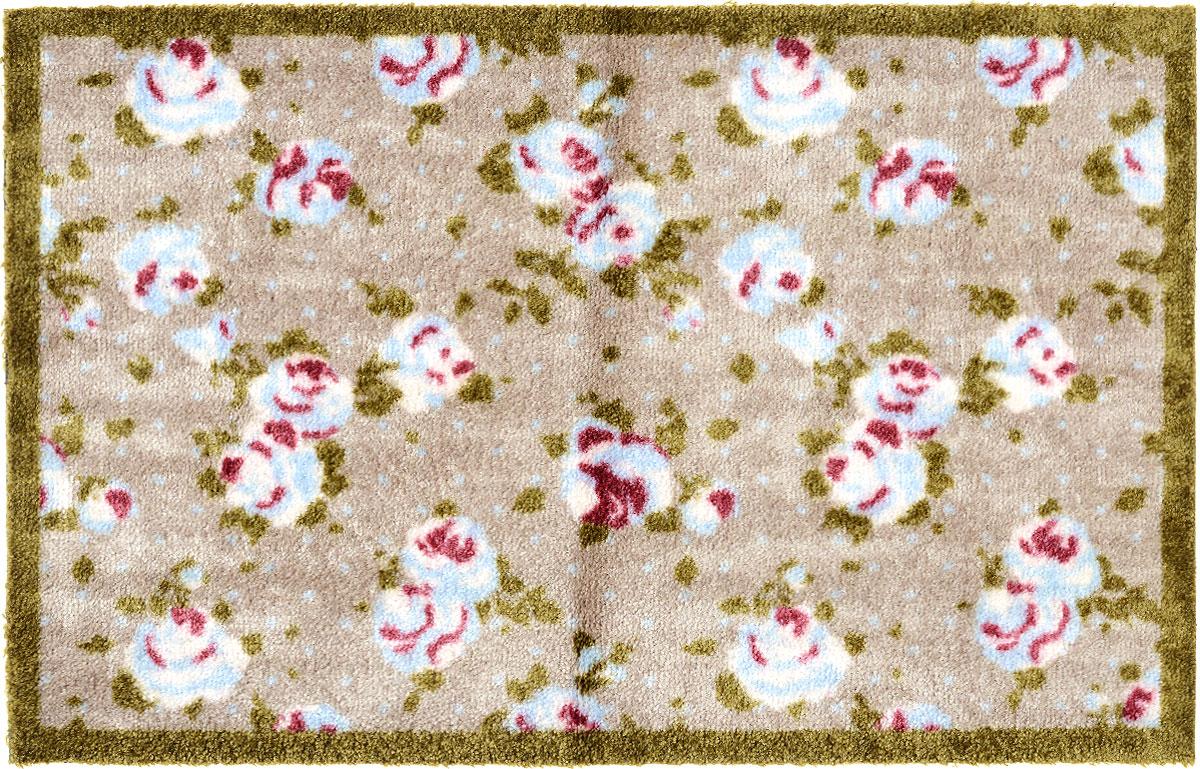 Коврик придверный Gardman Rose, 50 см х 75 см82154Придверный коврик Gardman Rose, изготовленный из нейлона на основе ПВХ, оформлен ярким изображением цветов. Он прост в обслуживании, прочный и устойчивый к различным погодным условиям. Коврик Gardman Rose дополнит интерьер прихожей и надежно защитит помещение от уличной пыли и грязи.