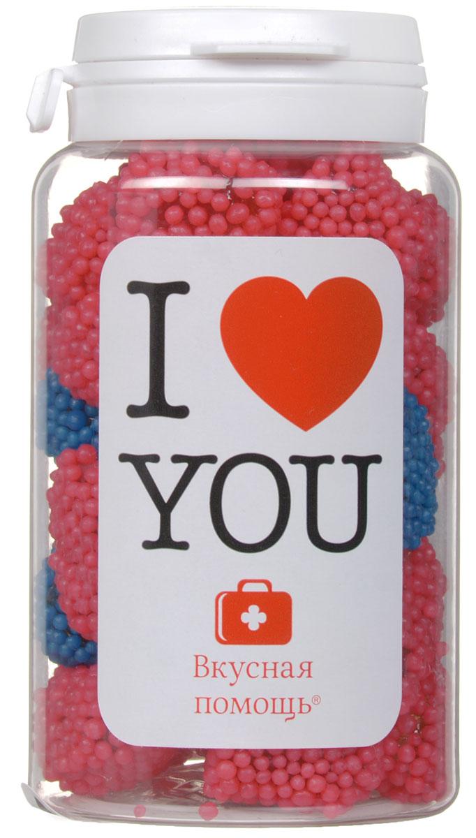 """Конфеты Вкусная помощь """"Я тебя люблю"""",150 мл красный, синий 00-00000065_красн/син"""