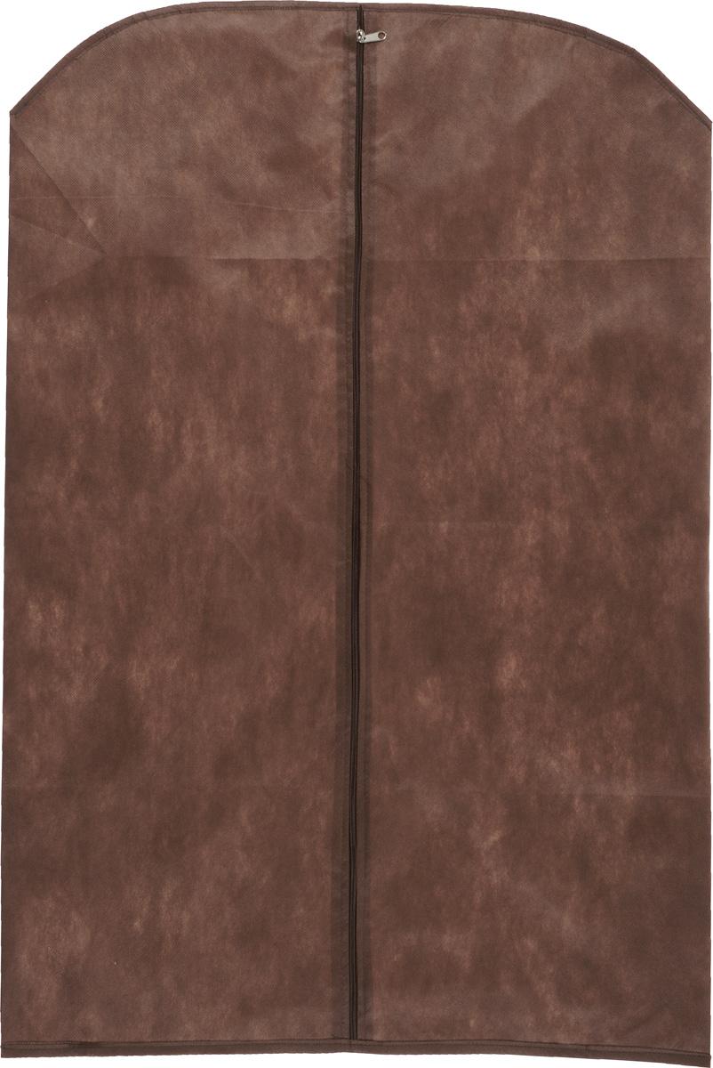 Чехол для одежды Eva, цвет: коричневый, 65 см х 100 см. Е16Е16_коричневыйЧехол для одежды Eva изготовлен из высококачественного нетканого материала. Особое строение полотна создает естественную вентиляцию: материал дышит и позволяет воздуху свободно проникать внутрь чехла, не пропуская пыль. Благодаря форме чехла, одежда не мнется даже при длительном хранении. Застегивается на молнию. Чехол для одежды будет очень полезен при транспортировке вещей на близкие и дальние расстояния, при длительном хранении сезонной одежды, а также при ежедневном хранении вещей из деликатных тканей. Чехол для одежды не только защитит ваши вещи от пыли и влаги, но и поможет доставить одежду на любое мероприятие в идеальном состоянии.