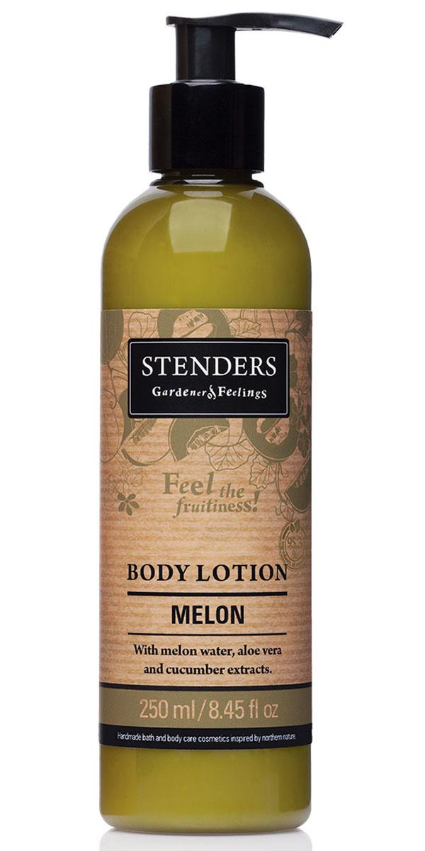 Stenders Лосьон для тела Дыня, 250 млFS-00103Этот легкий лосьон для тела быстро впитывается и день за днем заботится о сохранении необходимого уровня влажности вашей кожи. Обогащённый освежающим экстрактом алоэ, лосьон тонизирует и смягчит вашу кожу. А аромат сочной дыни наполнит вас радостью лета. Сок алоэ является одним из самых сильных природных увлажнителей. Кроме того, он обладает выраженным противовоспалительным, противомикробным, ранозаживляющим и десенсибилизирующим действием (снимает аллергические реакции). Повышает резистентность кожи к воздействию УФ-излучения.Дыня (экстракт) - действительно зрелая дыня – настоящий символ плодородия лета. Свежесть согретой солнцем, ароматной дыни заключена в каждой ароматной капле экстракта дыни. Он придаст вашей коже неотразимый аромат. Летнюю свежесть и подлинную чистоту таит в себе экстракт зеленых огурцов. Он действует освежающе и успокаивающе. Кроме того, способен уменьшить припухлость кожи, придавая вам свежий вид. Ши масло тщательно питает, увлажняет, смягчает кожу и задерживает ее старение. Этому маслу присуща способность глубоко впитываться в кожу, длительно питая и защищая ее.