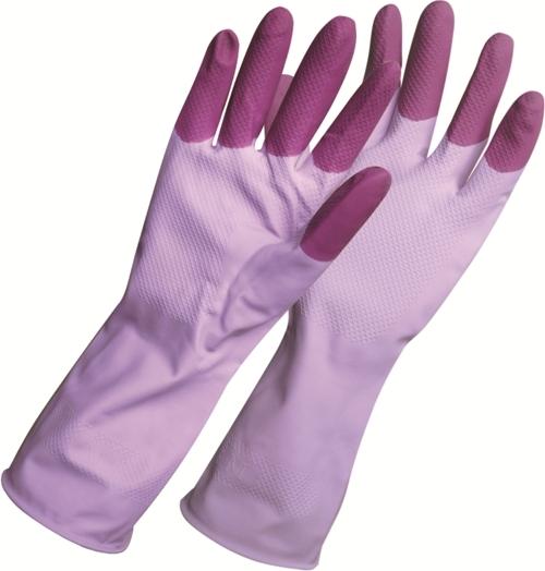 Перчатки хозяйственные York Prestige. Размер L10503Хозяйственные перчатки York Prestige защитят ваши руки от воздействия бытовой химии и грязи. Подойдут для всех видов хозяйственных работ. Выполнены из латекса с хлопковым напылением, предотвращающим потоотделение ладони.