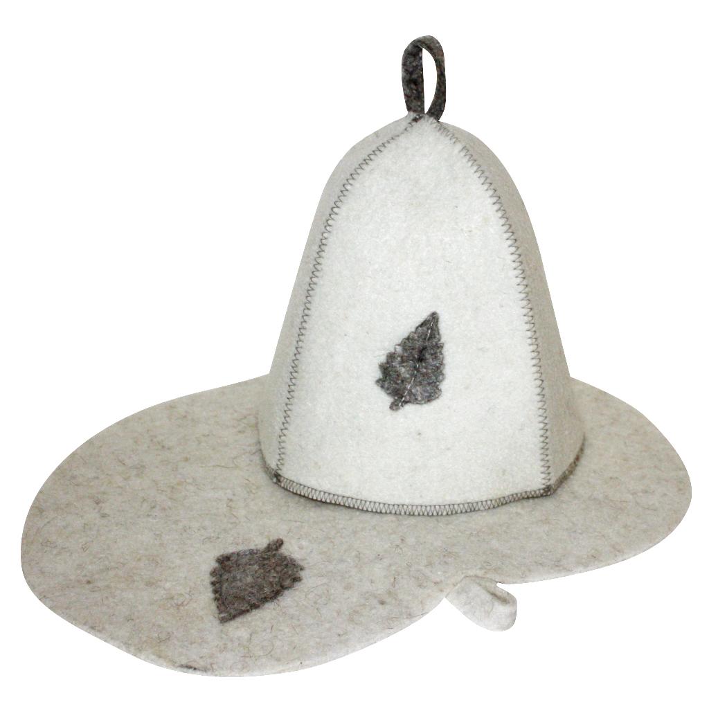 Набор для бани и сауны Главбаня Листок, 2 предметаБ1601Подарочный набор для бани Главбаня Листок включает в себя шапку и коврик. Изделия выполнены из войлока (шерсть с добавлением полиэфира). Предметы набора оформлены аппликацией в виде листочка. Шапка и коврик - это незаменимые аксессуары для любителей попариться в русской бане и для тех, кто предпочитает сухой жар финской бани. Необычный дизайн изделий поможет сделать ваш отдых приятным и разнообразным. Шапка защитит волосы от сухости и ломкости, голову от перегрева и предотвратит появление головокружения, а коврик от высоких температур при контакте с горячей лавкой в парилке. На изделиях имеются петельки, с помощью которых их можно повесить на крючок в предбаннике. Такой набор станет отличным новогодним подарком для любителей отдыха в бане или сауне. Пластиковая сумочка на молнии позволит удобно хранить изделия. Размер коврика: 44 х 31 см. Обхват головы: 71 см. Высота шапки: 25 см.
