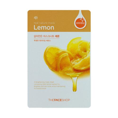 The Face Shop Тканевая маска для лица с экстрактом лимона REAL NATURE, 20 г72523WDМаска-салфетка для лица отбеливающая лимонная содержит 1000 мг чистого лимонного экстракта. Витамин С глубоко проникает в клетки кожи, осветляя и сохраняя ее прозрачность. Рекомендуется для тусклой кожи.