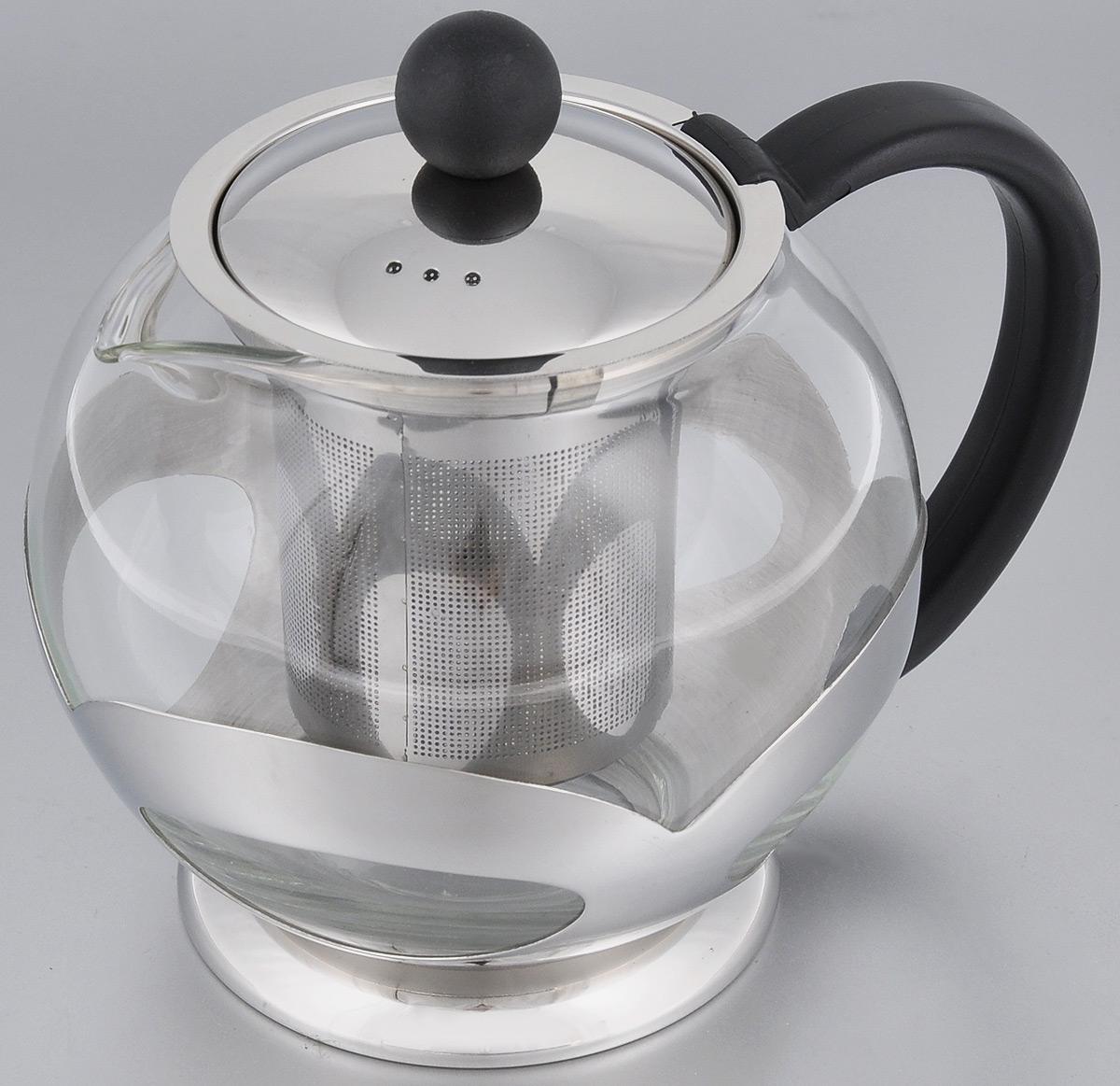 Чайник заварочный Miolla, с фильтром, 750 млCM000001328Заварочный чайник Miolla, изготовленный из термостойкого стекла, предоставит вам все необходимые возможности для успешного заваривания чая. Чай в таком чайнике дольше остается горячим, а полезные и ароматические вещества полностью сохраняются в напитке. Чайник оснащен фильтром, который выполнен из нержавеющей стали. Простой и удобный чайник поможет вам приготовить крепкий, ароматный чай.Нельзя мыть в посудомоечной машине. Не использовать в микроволновой печи.Диаметр чайника (по верхнему краю): 7,5 см.Высота чайника (без учета крышки): 11,5 см.Высота фильтра: 8 см.