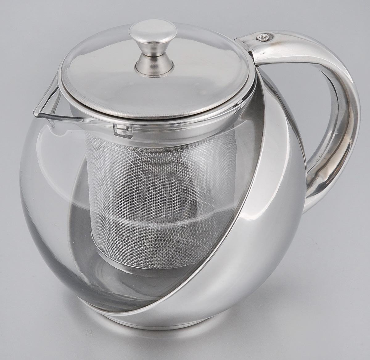 Чайник заварочный Miolla, с фильтром, 500 млDHA030BЗаварочный чайник Miolla, изготовленный из термостойкого стекла, предоставит вам все необходимые возможности для успешного заваривания чая. Чай в таком чайнике дольше остается горячим, а полезные и ароматические вещества полностью сохраняются в напитке. Чайник оснащен фильтром, выполненном из нержавеющей стали. Простой и удобный чайник поможет вам приготовить крепкий, ароматный чай. Нельзя мыть в посудомоечной машине. Не использовать в микроволновой печи. Диаметр чайника (по верхнему краю): 7 см. Высота чайника (без учета крышки): 10 см. Высота фильтра: 8 см.