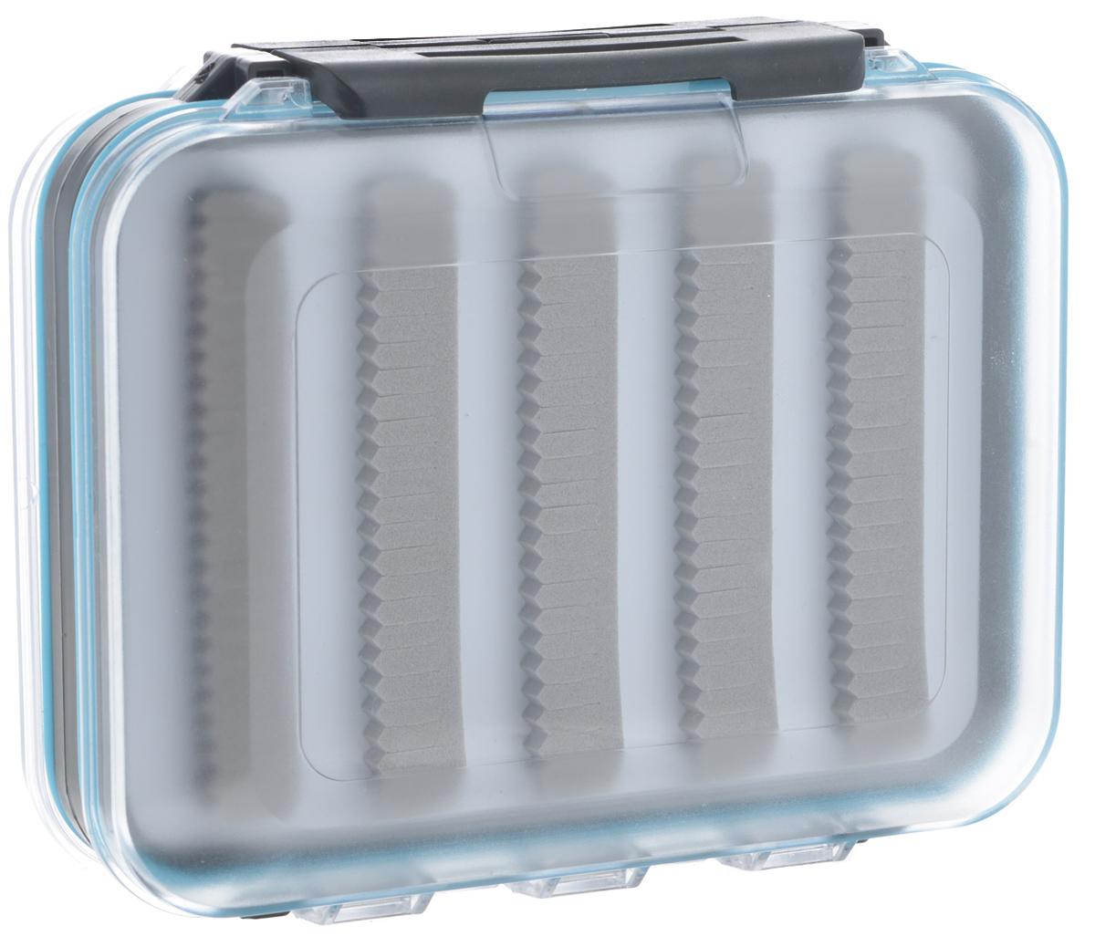 Коробка для приманок Salmo Ice Lure Special 03, 12,5 см х 10,5 см х 4,5 см2020-03Двусторонняя водонепроницаемая коробка Salmo Ice Lure Special 03 оснащена специальными вставками из вспененного материала, позволяющими закреплять приманки (мормышки, балансиры и блесны), не втыкая их в материал, а зажимая в нем крючки. Такая система в разы увеличивает срок службы коробки. Изделие выполнено из высококачественного пластика. Коробка оборудована прочными замками, предотвращающими случайное открывание.