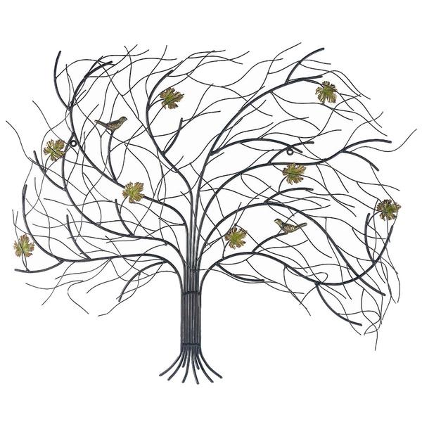 Декор настенный Gardman Дерево на ветру, 75 х 62 см17341Настенный декор Gardman Дерево на ветру изготовлен из стали в виде осеннего дерева с фигурками птичек и желтых листьев, пробуждающего воспоминания о прогулках в осеннем парке. Изделие сварено и обработано вручную. Вы можете повесить его на стену как картину. Настенный декор Gardman Дерево на ветру оригинально украсит ваш дом или сад и станет замечательным дизайнерским решением.