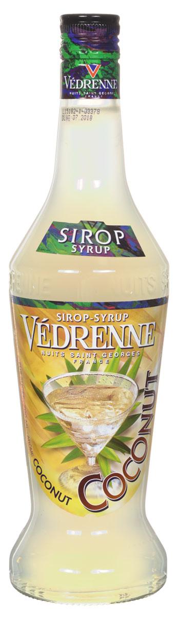 Vedrenne Кокос сироп, 0,7 лSVDRCO-070B01Кокосовый сироп — это концентрированный сладкий продукт с ароматом тропического фрукта. Сиропы изготавливаются на основе натурального растительного сырья, фруктовых и ягодных соков прямого отжима, цитрусовых настоев, а также с использованием очищенной воды без вредных примесей, что позволяет выдержать все ценные и полезные свойства натуральных фруктово-ягодных плодов и трав. В состав сиропов входит только натуральный сахар, произведенный по традиционной технологии из сахарозы. Благодаря высокому содержанию концентрированного фруктового сока, сиропы Vedrenne обладают изысканным ароматом и натуральным вкусом, являются эффективным подсластителем при незначительной калорийности. Они оптимизируют уровень влажности и процесс кристаллизации десертов, хорошо смешиваются с другими ингредиентами и способствуют улучшению вкусовых качеств напитков и десертов. Сиропы Vedrenne разливаются в стеклянные бутылки с яркими этикетками, на которых изображен фрукт, ягода или другой...