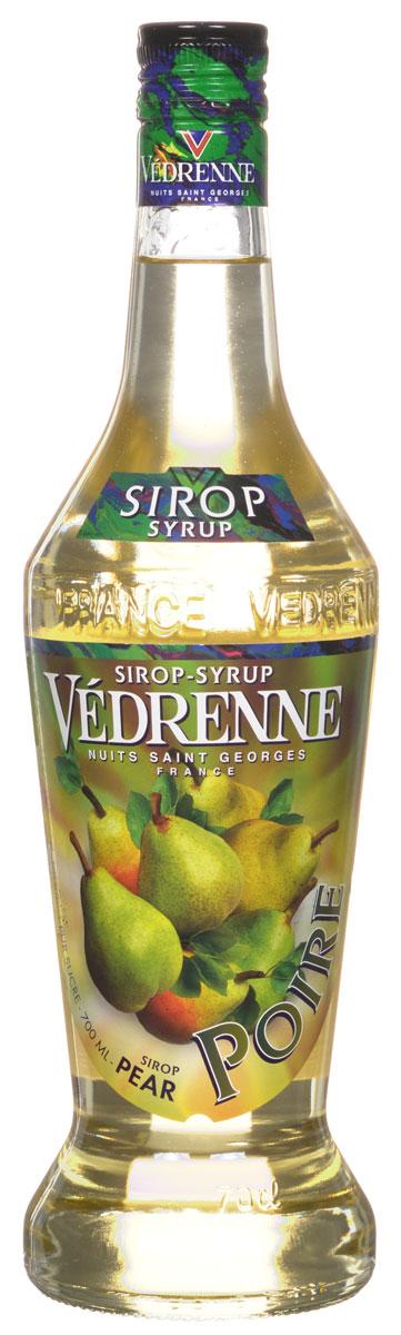 Vedrenne Груша сироп, 0,7 лSVDRPO-070B01Традиционно сироп Груша изготавливается из натурального растительного сырья — грушевого сока или пюре с добавлением тростникового сахара и очищенной воды. Сиропы изготавливаются на основе натурального растительного сырья, фруктовых и ягодных соков прямого отжима, цитрусовых настоев, а также с использованием очищенной воды без вредных примесей, что позволяет выдержать все ценные и полезные свойства натуральных фруктово-ягодных плодов и трав. В состав сиропов входит только натуральный сахар, произведенный по традиционной технологии из сахарозы. Благодаря высокому содержанию концентрированного фруктового сока, сиропы Vedrenne обладают изысканным ароматом и натуральным вкусом, являются эффективным подсластителем при незначительной калорийности. Они оптимизируют уровень влажности и процесс кристаллизации десертов, хорошо смешиваются с другими ингредиентами и способствуют улучшению вкусовых качеств напитков и десертов. Сиропы Vedrenne разливаются в стеклянные бутылки...