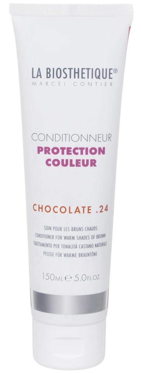 La Biosthetique Кондиционер для окрашенных волос Protection Couleur. Chocolate 24, 150 млLB120560Кондиционер La Biosthetique Protection Couleur. Chocolate 24 интенсивно увлажняет волосы, улучшает структуру, укрепляет, наделяет их великолепным блеском, а также защищает от выцветания оттенка, возникающего вследствие воздействия УФ-лучей. Тонирующие пигменты улучшают цвет, усиливают его теплое сияние и создают искрящиеся золотые акценты. Товар сертифицирован.