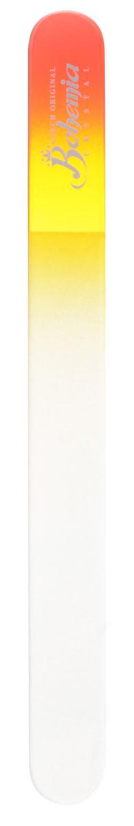Bohemia Пилочка для ногтей, стеклянная, чехол из замши, цвет: красно-желтый. 1783cz233-1783втмСтеклянная пилочка Bohemia подходит как для натуральных, так и для искусственных ногтей. Она прекрасно шлифует и придает форму ногтям. После пользования стеклянной пилочкой ногти не слоятся и не ломаются. При уходе за накладными ногтями во время работы ее рекомендуется периодически смачивать в воде. Поверхность стеклянной пилочки не поддается коррозии. К пилочке прилагается замшевый чехол. Материал пилочки: богемское стекло.
