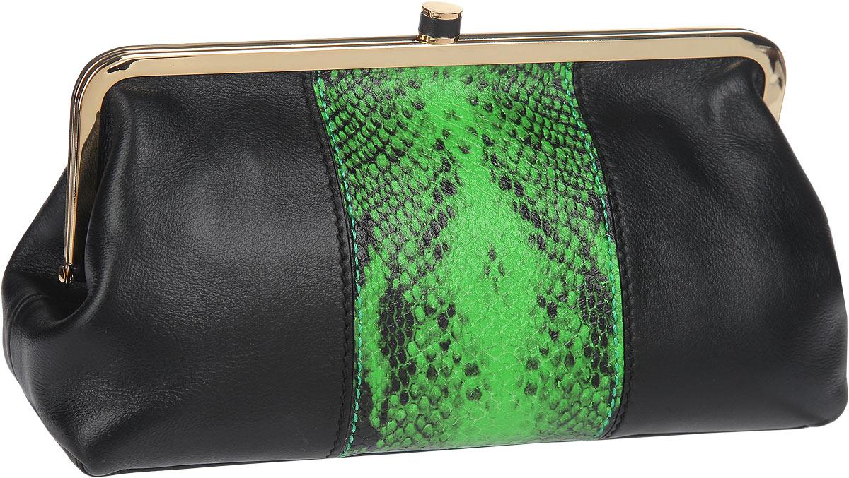 Косметичка Leo Ventoni, цвет: черный, зеленый. L330910L330910-nero/greenЭлегантная косметичка Leo Ventoni выполнена из натуральной кожи и оформлена контрастной кожаной вставкой с тиснением под рептилию. Изделие содержит одно вместительное отделение и закрывается на рамочный замок. Внутри косметички расположены: накладной карман и врезной карман на застежке-молнии. Косметичка Leo Ventoni станет незаменимым аксессуаром, который понравится любой девушке.