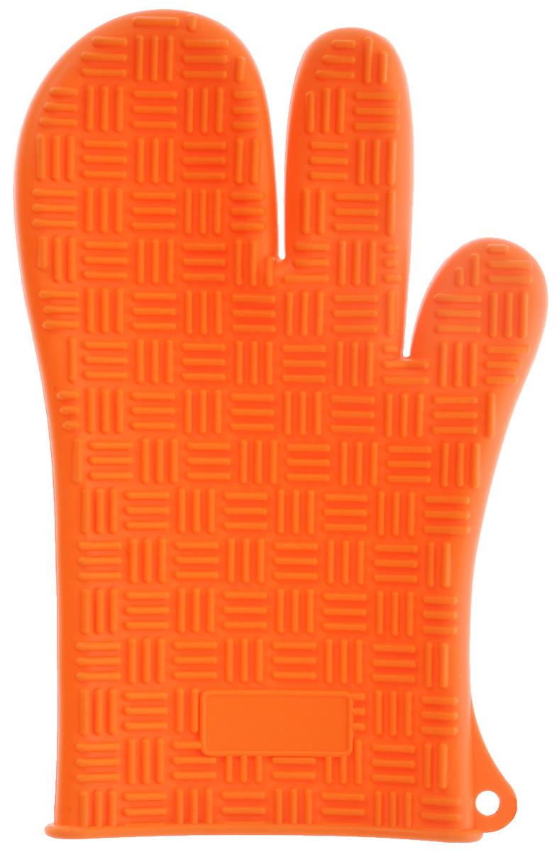 Прихватка-перчатка силиконовая Mayer & Boch, цвет: ярко-оранжевый, 27 см х 17 см21941Прихватка-перчатка Mayer & Boch изготовлена из прочного цветного силикона. Она способна выдерживать температуру от -60°C до +230°С. Эластична, износостойка, влагонепроницаема, легко моется, удобно и прочно сидит на руке. С помощью такой прихватки ваши руки будут защищены от ожогов, когда вы будете ставить в печь или доставать из нее выпечку. Можно мыть в посудомоечной машине.