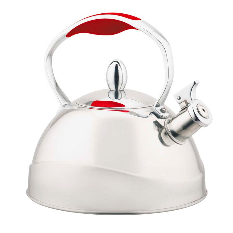 Чайник Mayer & Boch, со свистком, 3 л. 2241022410Чайник Mayer & Boch выполнен из высококачественной нержавеющей стали, что делает его весьма гигиеничным и устойчивым к износу при длительном использовании. Капсулированное дно с прослойкой из алюминия обеспечивает наилучшее распределение тепла. Носик чайника оснащен насадкой-свистком, что позволит вам контролировать процесс подогрева или кипячения воды. Фиксированная ручка дает дополнительное удобство при разлитии напитка. Поверхность чайника гладкая, что облегчает уход за ним. Эстетичный и функциональный, с эксклюзивным дизайном, чайник будет оригинально смотреться в любом интерьере. Подходит для всех типов плит, включая индукционные. Можно мыть в посудомоечной машине. Высота чайника (без учета ручки и крышки): 12 см. Высота чайника (с учетом ручки и крышки): 21 см. Диаметр чайника (по верхнему краю): 10 см.