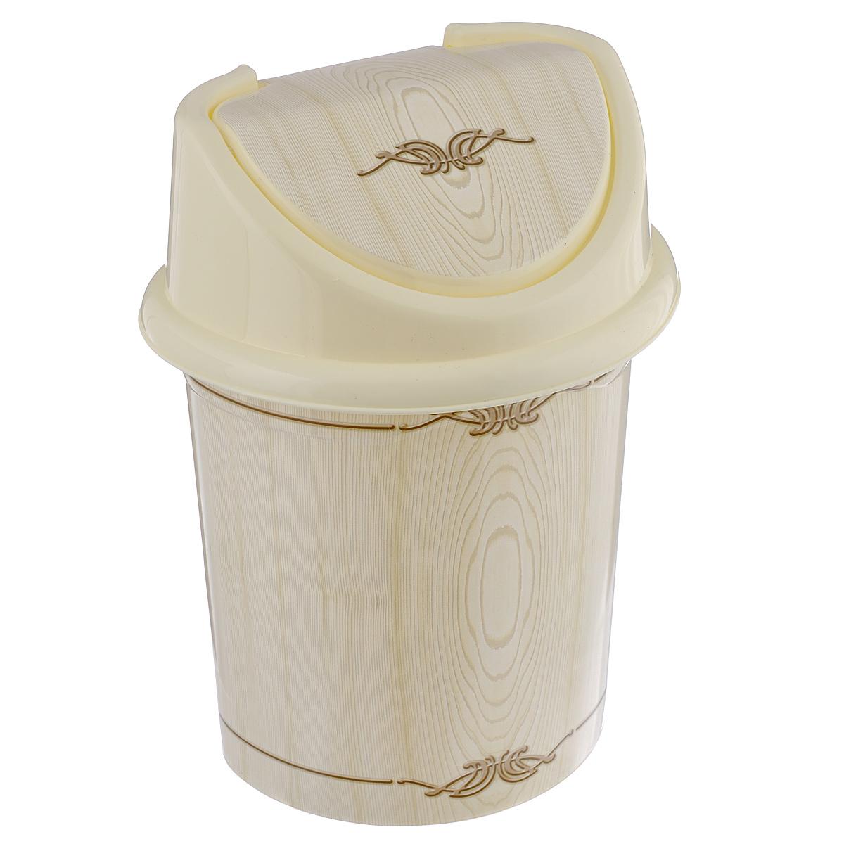 Контейнер для мусора Violet Беленый дуб, цвет: слоновая кость, коричневый, 8 лUP210DFКонтейнер для мусора Violet Беленый дуб изготовлен из прочного пластика. Контейнер снабжен удобной съемной крышкой с подвижной перегородкой. В нем удобно хранить мелкий мусор. Благодаря лаконичному дизайну такой контейнер идеально впишется в интерьер и дома, и офиса.Размер изделия: 21 см x 26 см x 35,5 см.