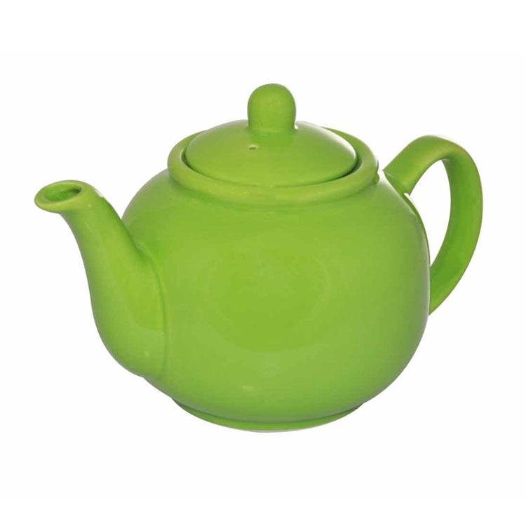Чайник заварочный Loraine, цвет: ярко-зеленый, 940 мл24869Заварочный чайник Loraine изготовлен из высококачественной доломитовой керамики высокого качества без примеси ПФОК. Глазурованное покрытие делает поверхность абсолютно гладкой и легкой для чистки. Изделие прекрасно подходит для заваривания вкусного и ароматного чая, травяных настоев. Оригинальный дизайн сделает чайник настоящим украшением стола. Он удобен в использовании и понравится каждому. Диаметр чайника (по верхнему краю): 9 см. Высота чайника (без учета крышки): 11 см.