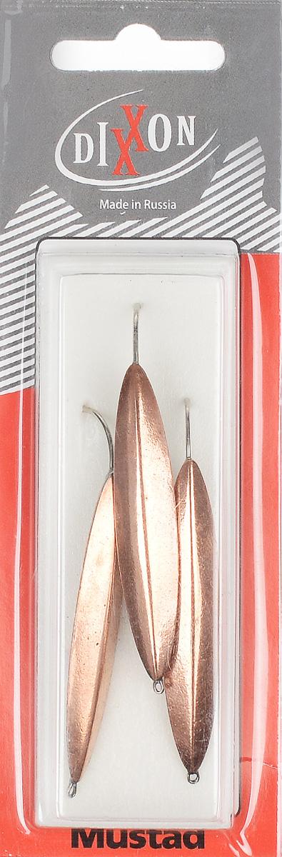 Блесна зимняя Dixxon Старорусская, цвет: медный, 9,6 г, 3 шт03/1/12Блесна зимняя Dixxon Старорусская - это классическая вертикальная блесна. Выполнена из высококачественного металла. Блесна предназначена для отвесного блеснения рыбы. Оснащена впаянным одинарным крючком.