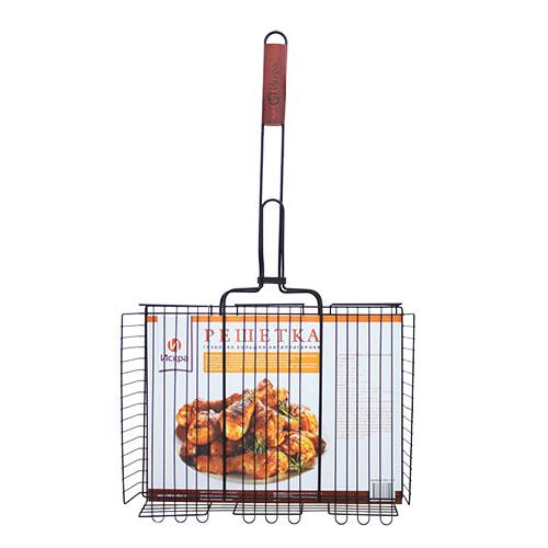 Гриль-решетка Искра для курицы RDG-61A, размер: 71х41х8смRDG-61АРешетка глубокая большая антипригарная Благодаря трехуровневой конструнции и возможности перевернуть верхнюю часть решетки, вы можите использовать ее для жарки большого количества блюд