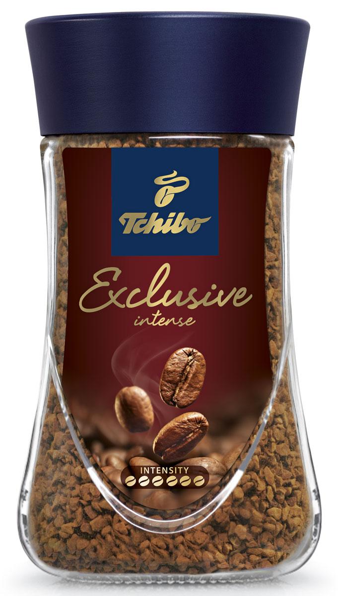 Tchibo Exclusive Intense кофе растворимый, 95 г0120710Побалуйте себя и своих близких изысканным кофе Tchibo Exclusive Intense. Его богатый аромат и насыщенный вкус доставят вам непревзойдённое удовольствие. Для создания этого исключительного купажа эксперты Tchibo отбирают только лучшие зерна Арабики и дополняют их зернами насыщенной Робусты.