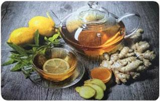Коврик для кухни Имбирный чай, 45 х 75 см, SUNSTEP37-702