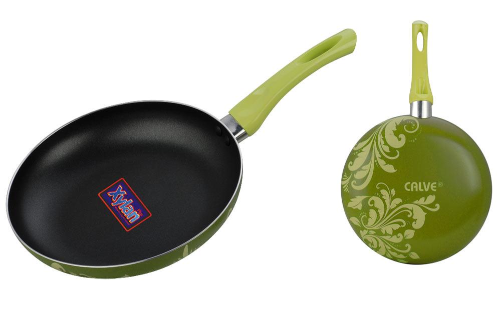 """Сковорода Calve """"Premium Quality"""", с антипригарным порытием, цвет: салатовый. Диаметр 20 см"""