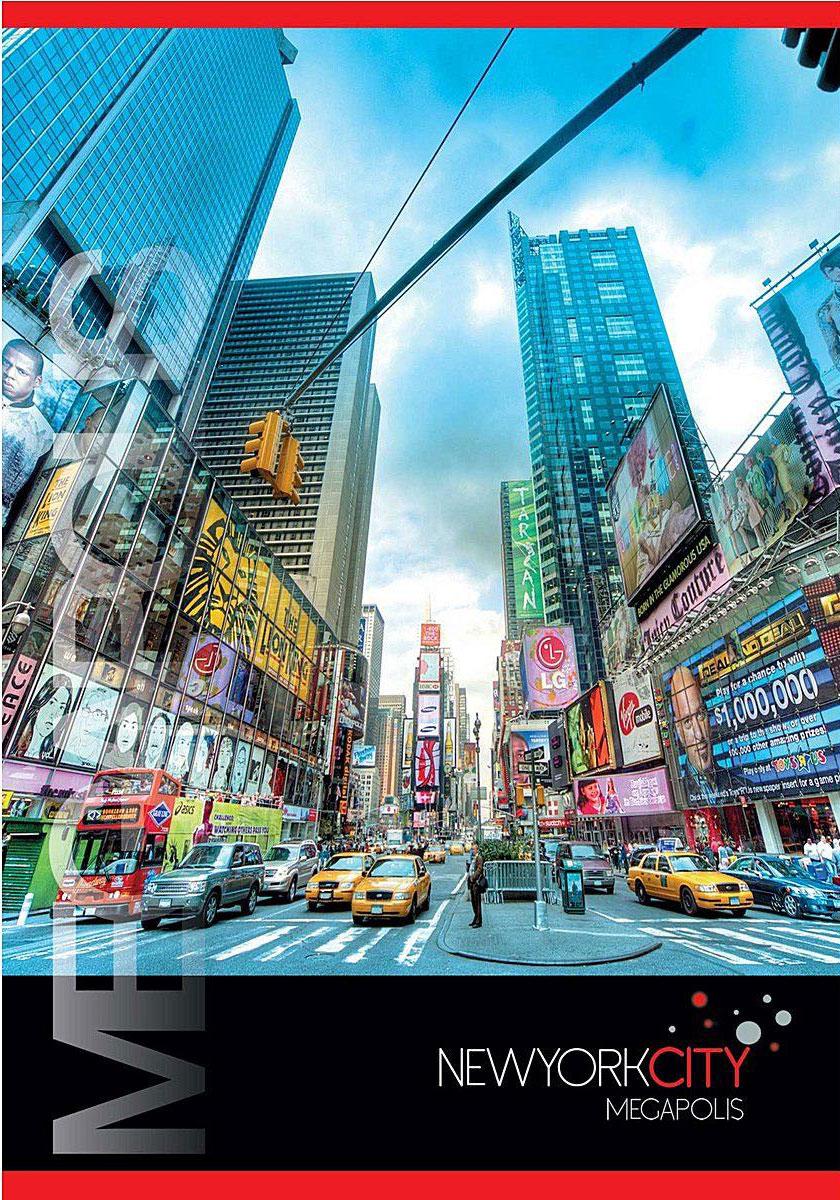 ACTION! Тетрадь Нью-Йорк Мегаполис в клетку 80 листовSMA510-V8-ETТетрадь с обложкой из картона, защищающей бумагу от деформации. Отличный выбор для Вашего ребенка!