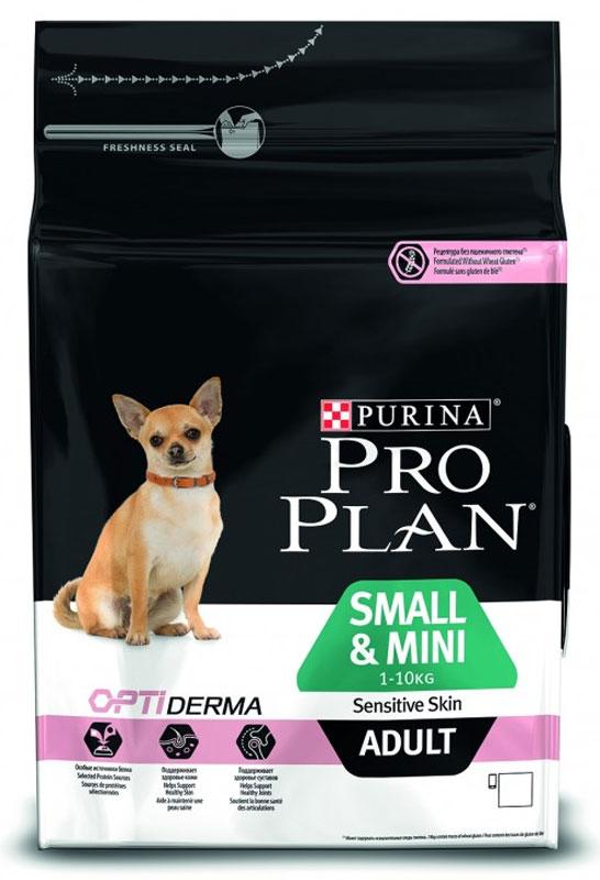 Корм сухой Pro Plan Optiderma для собак мелких и карликовых пород с чувствительной кожей, с лососем и рисом, 7 кг12272581Разработанный ветеринарами и диетологами корм Pro Plan с комплексом Optiderma обеспечивает самое современное питание, которое поддерживает чувствительную кожу взрослых собак. Подтверждено, что Optiderma включает в себя специальную комбинацию питательных веществ, которые поддерживают здоровье кожи и красивую шерсть, а отобранные источники белка помогают сократить возможные кожные реакции, связанные с пищевой чувствительностью. Состав: лосось 14%, рис 14%, сухой белок лосося, кукурузный глютен, кукурузная мука, кукурузный крахмал, животный жир, кукуруза, продукты переработки растительного сырья, яичный порошок, сухая мякоть свеклы, минеральные вещества, сушеный корень цикория, рыбий жир, вкусоароматическая кормовая добавка, дрожжи, масло соевое, витамины, антиоксиданты. Добавленные вещества (на 1 кг): витамин А 30000 МЕ, витамин D3 975 МЕ, витамин Е 550 МЕ, витамин С 140 мг, железо 95 мг, йод 2,4 мг, медь 14 мг, марганец 44 мг, цинк 160 мг, ...