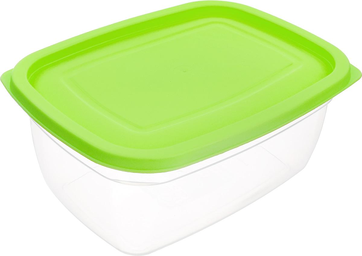 Контейнер Dunya Plastik, цвет: прозрачный, салатовый, 2,5 л30084_прозрачный, салатовыйПищевой контейнер Dunya Plastik изготовлен из высококачественного пищевого пластика, который выдерживает температуру от -40°С до +100°С. Контейнер безопасен для здоровья, не содержит BPA. Контейнер имеет прямоугольную форму и оснащен плотно закрывающейся крышкой. Можно мыть в посудомоечной машине.