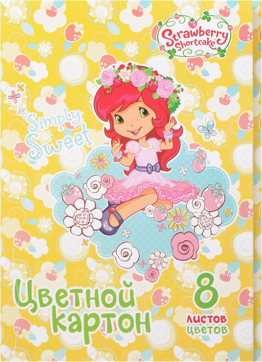 Action! Набор цветного картона Strawberry Shortcake 16 листовSW-cc-8/8_девочка с венкомНабор цветного картона Action!: Strawberry Shortcake позволит создавать всевозможные аппликации и поделки. Набор включает 16 листов одностороннего цветного картона формата А4 из 8-ми цветов (желтый, красный, зеленый, синий, оранжевый, белый, коричневый, черный). Создание поделок из цветного картона позволяет ребенку развивать творческие способности, кроме того, это увлекательный досуг. Набор упакован в картонную папку с изображением Strawberry Shortcake.