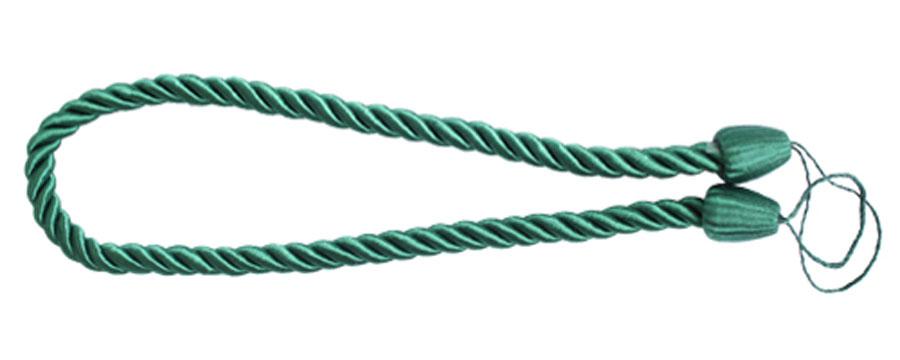 Подхват для штор Goodliving Шнур, цвет: зеленый (39), 2 шт7711742_39 зеленыйПодхват для штор Goodliving Шнур выполнен в виде витого шнура, на обоих концах которого имеются петли для крепления подхвата на крючок. Подхват - это основной вид фурнитуры в декоре штор, сочетающий в себе не только декоративную функцию, но и практическую - регулировать поток света. Подхваты способны украсить любую комнату. Длина подхвата: 52 см. Диаметр подхвата: 1,5 см.