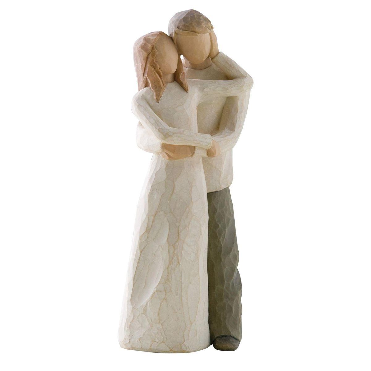 Фигурка Willow Tree Вместе вдвоем, 23 см26032Эти прекрасные статуэтки созданы канадским скульптором Сьюзан Лорди. Каждая фигурка – это настоящее произведение искусства, образная скульптура в миниатюре, изображающая эмоции и чувства, которые помогают нам чувствовать себя ближе к другим, верить в мечту, выражать любовь. Каждая фигурка помещена в красивую упаковку. Купить такой оригинальный подарок, значит не только украсить интерьер помещения или жилой комнаты, но выразить свое глубокое отношение к любимому человеку. Этот прекрасный сувенир будет лучшим подарком на день ангела, именины, день рождения, юбилей. Материал: Искусственный камень (49% карбонат кальция мелкозернистой разновидности, 51% искусственный камень)