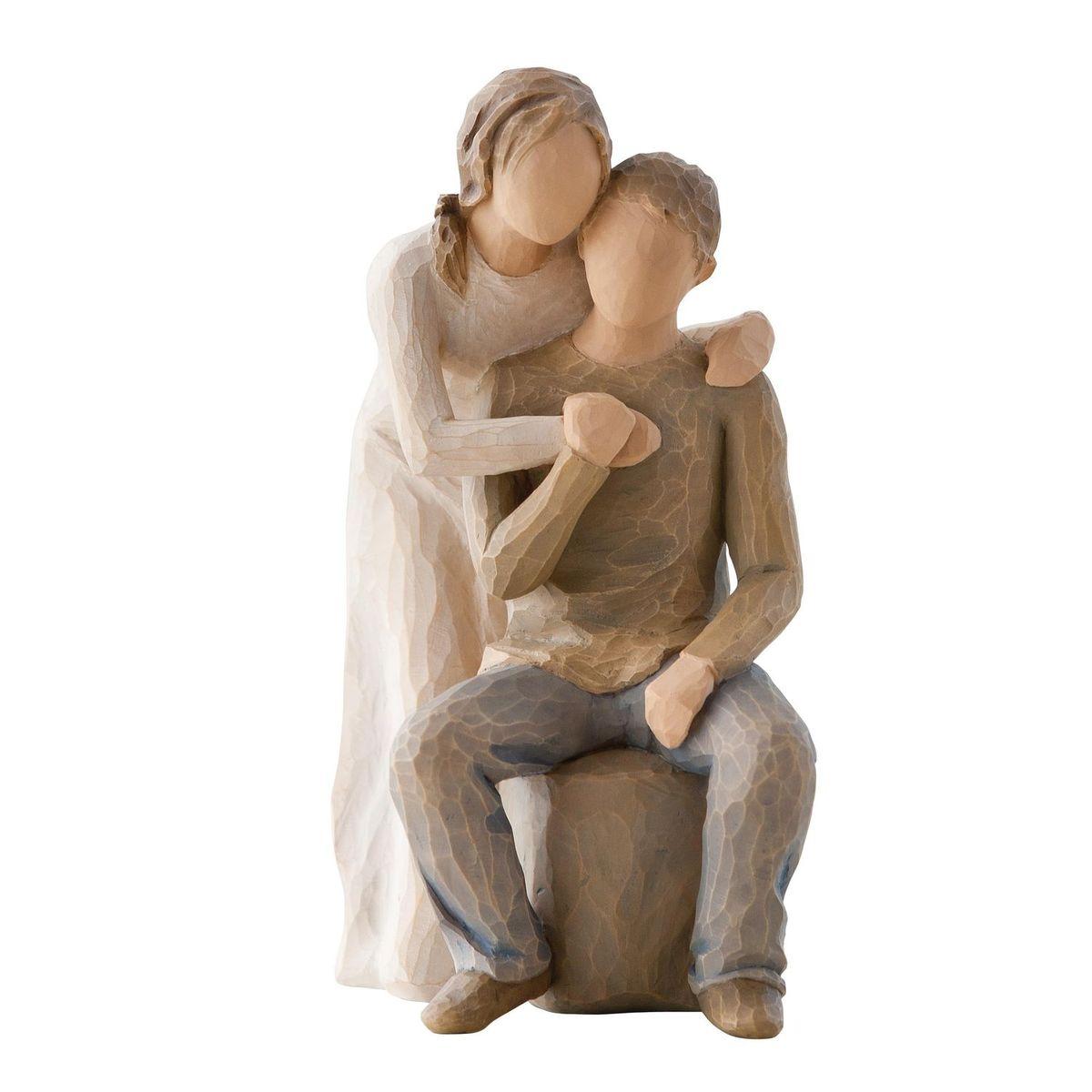 Фигурка Willow Tree Вы и я, 17 см26439Эти прекрасные статуэтки созданы канадским скульптором Сьюзан Лорди. Каждая фигурка – это настоящее произведение искусства, образная скульптура в миниатюре, изображающая эмоции и чувства, которые помогают нам чувствовать себя ближе к другим, верить в мечту, выражать любовь. Каждая фигурка помещена в красивую упаковку. Купить такой оригинальный подарок, значит не только украсить интерьер помещения или жилой комнаты, но выразить свое глубокое отношение к любимому человеку. Этот прекрасный сувенир будет лучшим подарком на день ангела, именины, день рождения, юбилей. Материал: Искусственный камень (49% карбонат кальция мелкозернистой разновидности, 51% искусственный камень)